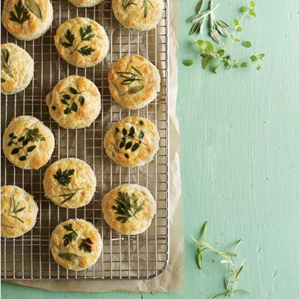 Makeover your bread basket with this easy idea for beautiful herb-laminated biscuits. This technique works for any rolled biscuit recipe (but not drop biscuits because they're too bumpy); try one o...