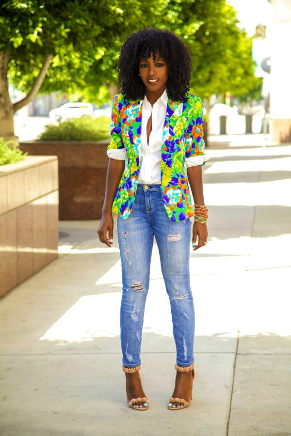 61 best Floral Blazer Outfits images on Pinterest | Blazer Blazers and Blazer outfits
