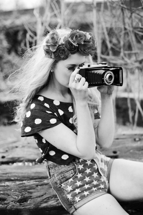 : Polka Dots, Flower Crowns, Flowers Crowns, Mixed Prints, Camera Lens, Photography Tools, Fashion Photography, Digital Camera, Photography Equipment