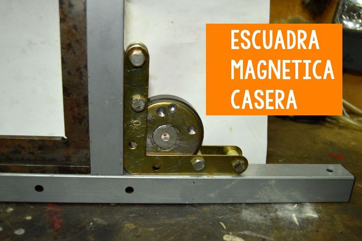 Escuadra magnetica casera de soldar