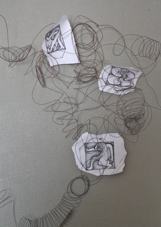 Line Art Elementary : Images about elementary art wire sculptures on