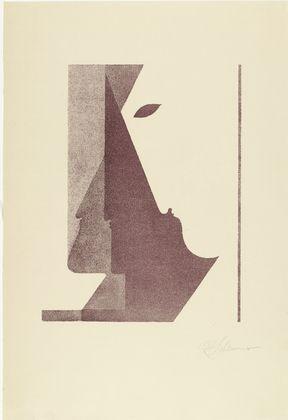 Oskar Schlemmer. Three Profiles between the Vertical and the Diagonal (Drei Profile zwischen der Senkrechten und der Diagonalen) from Play on Heads (Spiel mit Köpfen). (c. 1920, published 1923) http://www.expertapplication.com/