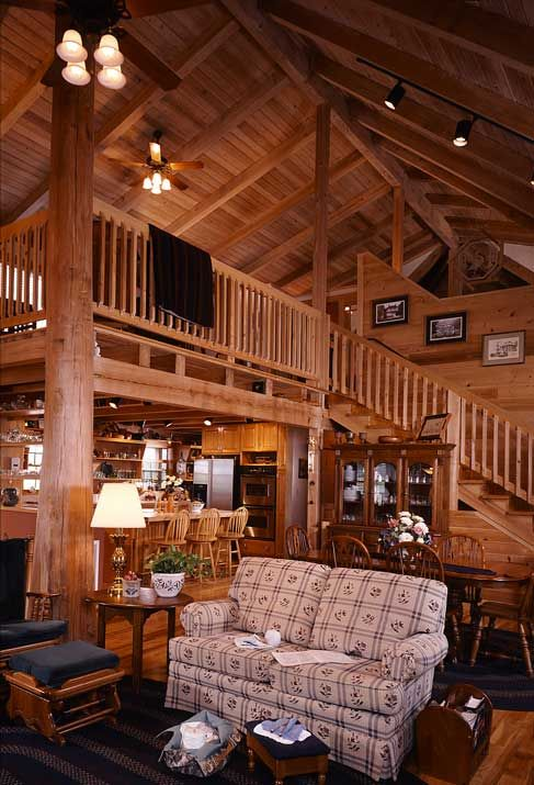 Custom+Log+Homes+Interior+Design | Photos Of A South Carolina Log