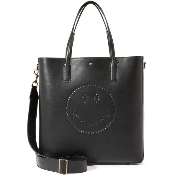 Anya Hindmarch Smiley Ebury Tote ($1,450) ❤ liked on Polyvore featuring bags, handbags, tote bags, handbags tote bags, anya hindmarch, anya hindmarch handbags, anya hindmarch tote bag and tote handbags