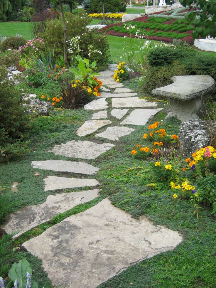 Rock Pathway through garden as seen on FB. Wish there was ...