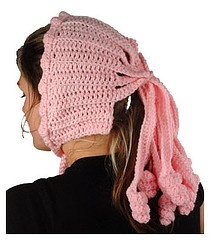 what not to crochet..ponytail hats