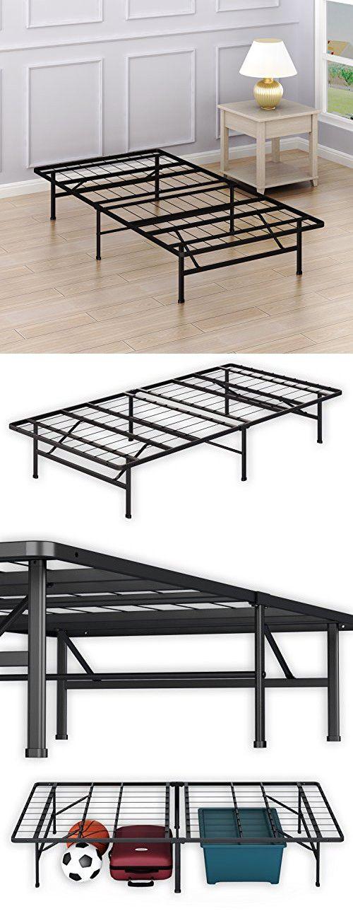 SimpleHouseware 14-Inch Twin Size Mattress Foundation Platform Bed Frame, Twin
