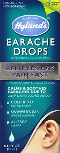 Hyland's Homeopathic Hyland's Earache Drops, 0.33-Ounce (10 ml) Hyland's Homeopathic http://www.amazon.com/dp/B001APXQKU/ref=cm_sw_r_pi_dp_AcCIvb0FCKZ2C