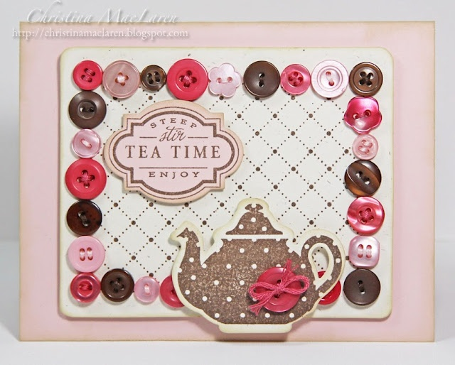 http://christinamaclaren.blogspot.com/2011/02/cr84fn14-wmsc-33-and-pti-button.html: Coffee, Pti Button, Buttons, Paper Crafts, Cards, Seaglass Papercrafts