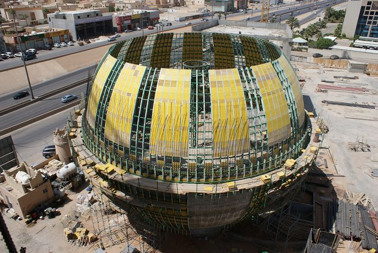 Saudi Press Agency Concrete Sphere - Projects - GHI Formwork | Customized Engineering Solutions