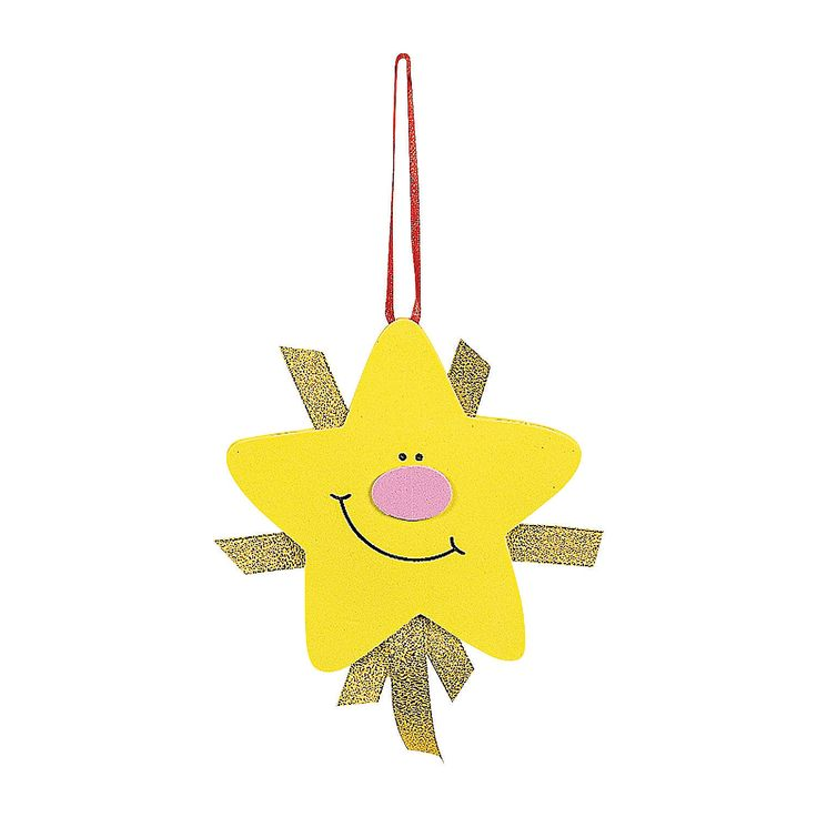 Shining Nativity Star Christmas Ornament Craft Kit - OrientalTrading.com -- made of foam and ribbon