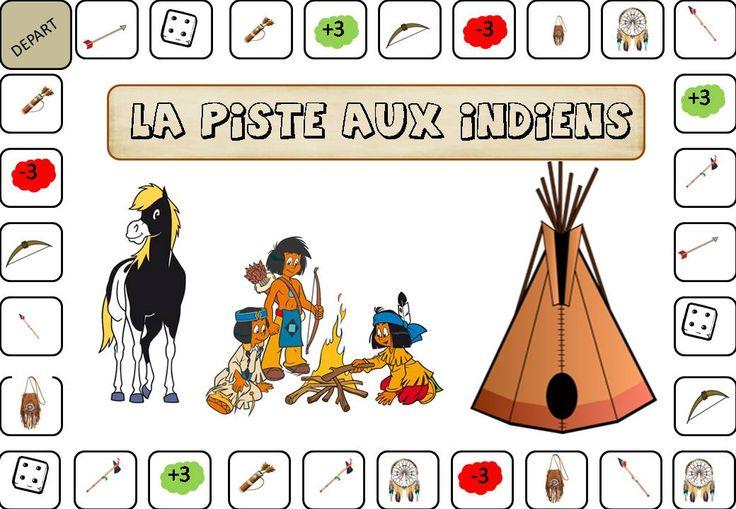 jeu la piste aux indiens pour maternels : variante du jeu de l'oie.