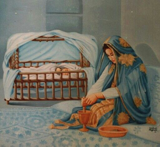 لوحه للفنان السعودى احمد المغلوث ( من تراث اﻻحساء )