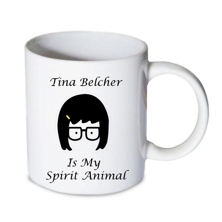 Coffee mug - Tina Belcher Is My Spirit Animal Mug - Custom Coffee mug - Ceramic mug by babydragonshop on Etsy   #mug #harry #potter #mugs #cups #coffee #tea #hot #sublimation #quote #gift #birthday #custom #lyric #band #mom #sister #men #women #11oz #Ceramic #white #belcher #burger #yonce #beyonce #jon #snow #hogwart