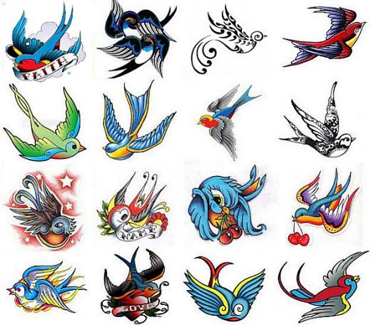 Swallow Tattoo flash.mi want to get 2 small swallows next to the anchor on my shoulder; to represent my son and I.