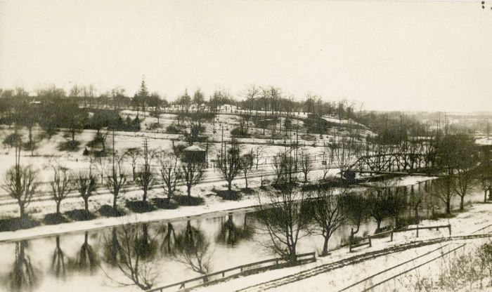Riverdale Park, looking n.w. towards Necropolis Cemetery in background. : Toronto Public Library