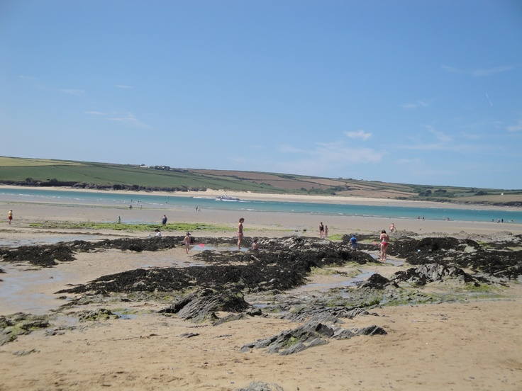 Daymer Bay, North Cornwall. Rockpools, sand and a lovely view towards Padstow.