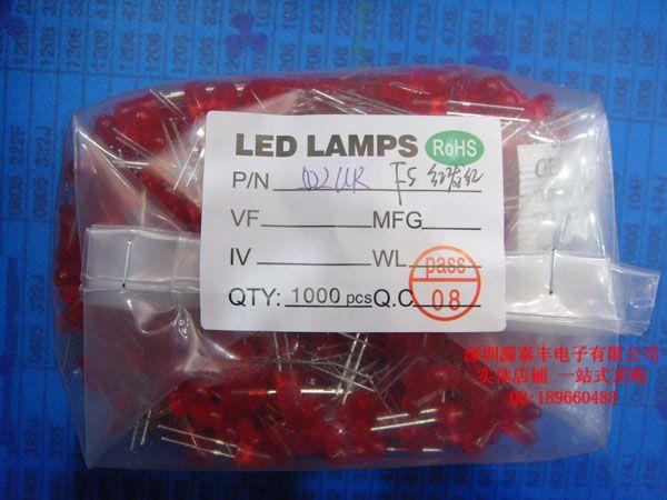 Красный светодиод короткие ноги подчеркнул 5 мм красный красный СВЕТОДИОД световой трубки красный свет