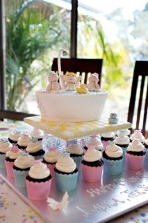 Babies in a Bath Baby Shower Cake