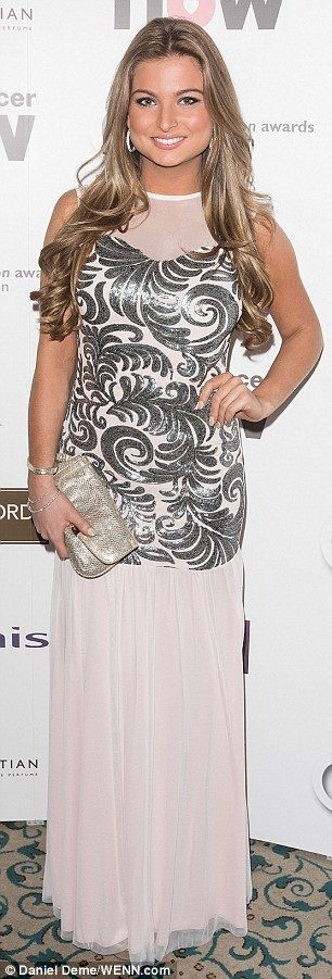 Stunner: Zara Holland sparkled in silver...