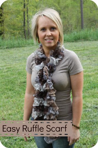 DIY: Ruffle Scarf with Sashay Yarn