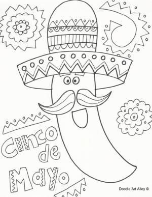 125 free printable cinco de mayo coloring pages for kids cinco de mayo coloring - Cinco De Mayo Skull Coloring Pages