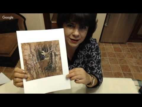 Ольга Мамонтова Панно на бересте - YouTube