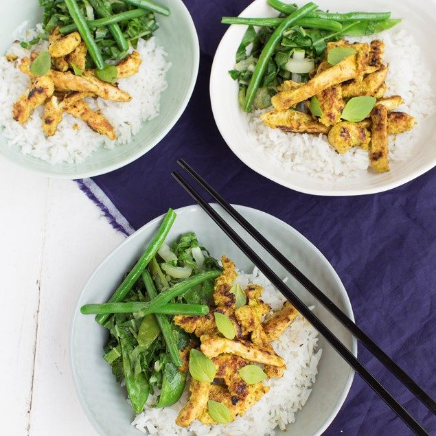 This meal uses Nadia's special lemongrass paste recipe!
