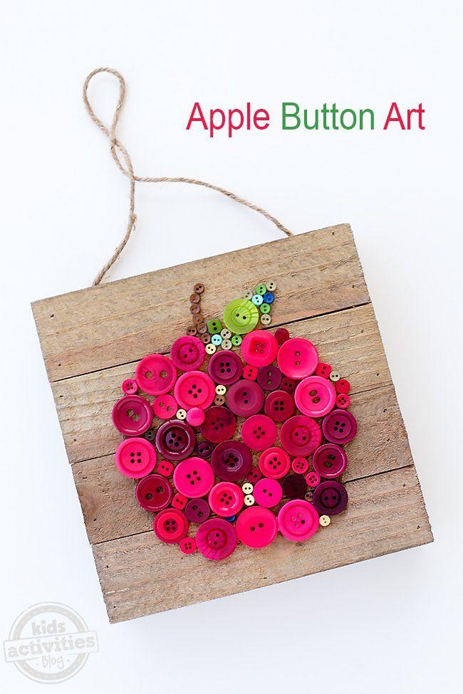 Apple Button Art for Kids