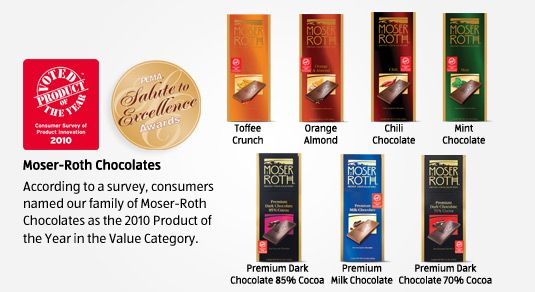 ALDI - moser roth chocolates.  I've only bought the 85% bars, but I love them.