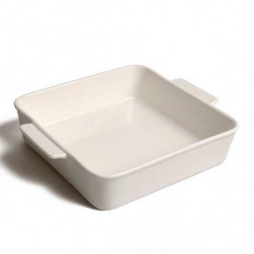 Ovenschaal wit, porselein, 19,5 cm