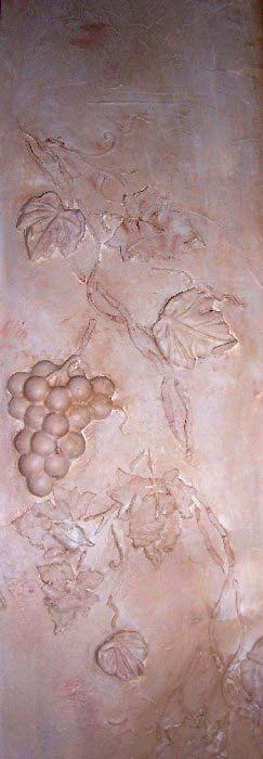 Raised Plaster Grape Vine and Plaster Mold by ElegantStencils