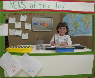 "news center or morning job ""News Person"" tells the class something exciting they…"