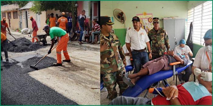 Casi 100 mil personas favorecidas en Azua por operativos ministerio de Obras Publicas