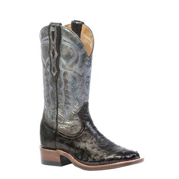 "Boulet Women's 12"" Ostrich With Snake Skin Print Boots"