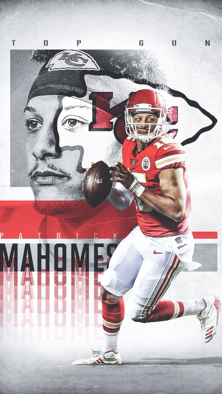 Patrick Mahomes Kansas City Chiefs Nfl Iphone Wallpaper Background Sports Graphic Design Sports Design Ideas Sports Design Inspiration