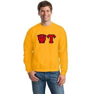 Psi Upsilon Fraternity 8oz Crewneck Sweatshirt - Gildan 18000 - TWILL