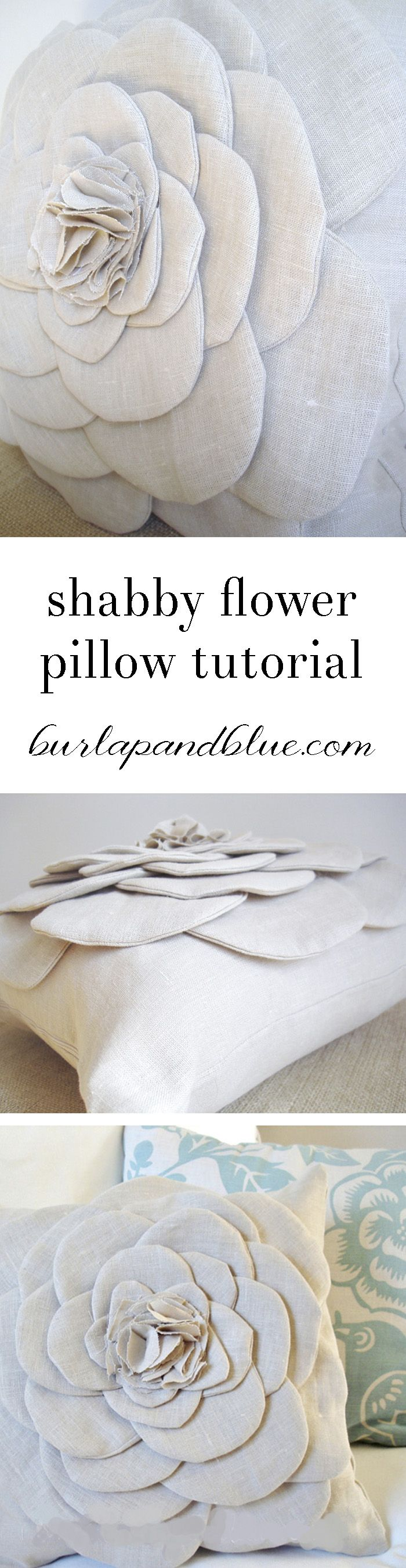 Shabby Flower Pillow A Tutorial Shabby Pillows And