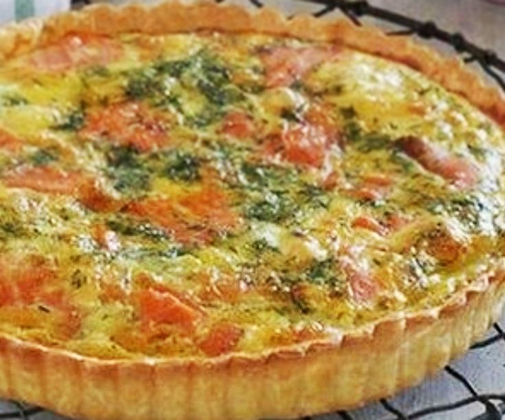 This Smoked Salmon and Puhoi Valley Brie  Quiche is a great way to feed lunchtime guests, and can easily stretch to feed those unexpected extras by adding a good, hearty salad. Clickthru for the full recipe. bit.ly/1lxsK2c