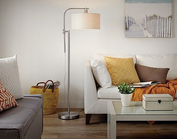 Looking to modernize your home?  The CANVAS Rowan Floor Lamp will add a modern and stylish touch to any room.  To compliment this look, use it with the CANVAS Rowan Table Lamp.  Check out our CANVAS Lighting Collection for more bright ideas.