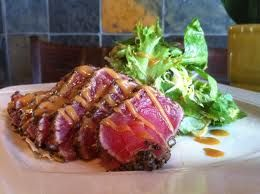 SEARED AHI TUNA - P.F. Chang's China Bistro Copycat Recipe  * I made and liked Rachel Ray's recipe, but I want to try this one next time. - SLS 4/1/13 *