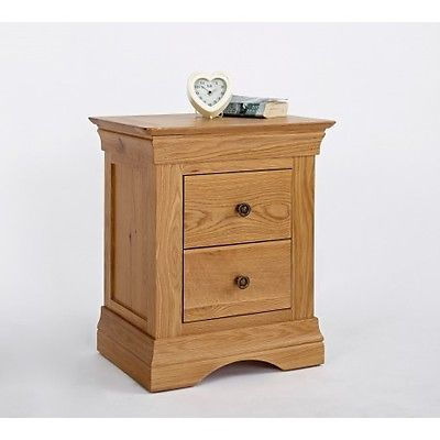 http://bask.yt/?Pz7s0 Normandy Oak 2 Drawer Bedside Table - Elite French Style Night Table  £142.90