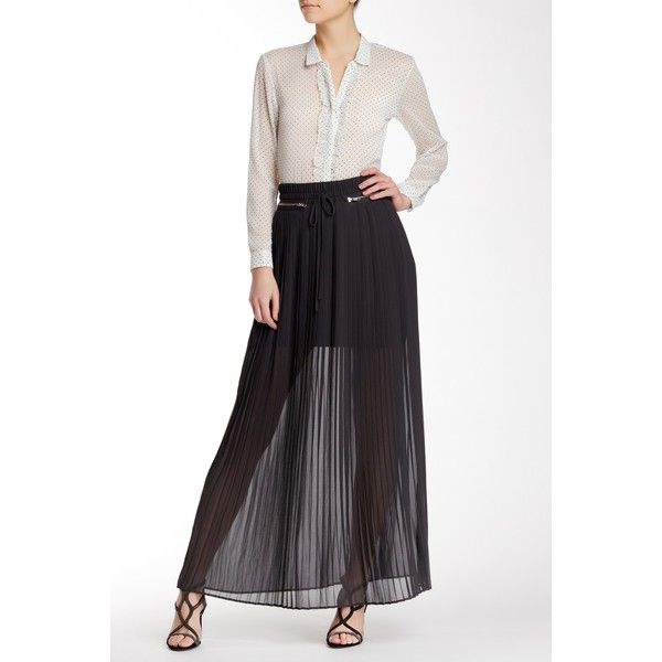 The Kooples Long Pleated Skirt (200 CAD) ❤ liked on Polyvore featuring skirts, grey, pleated skirt, long pleated skirt, long grey maxi skirt, grey skirt and gray maxi skirt