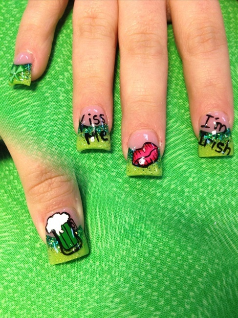 20 best Saint Patrick\'s Day Nail Art images on Pinterest | Holiday ...
