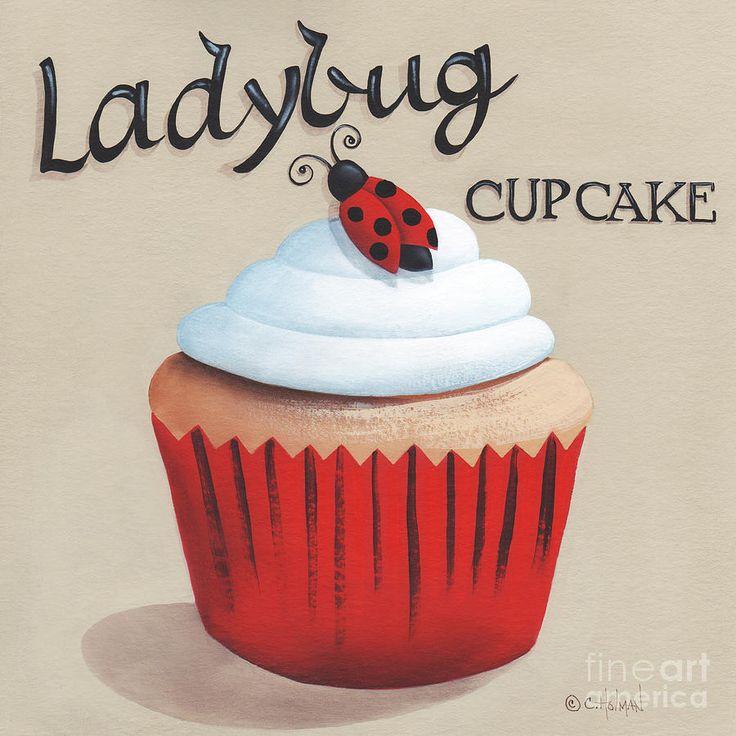 Ladybug Cupcake Painting