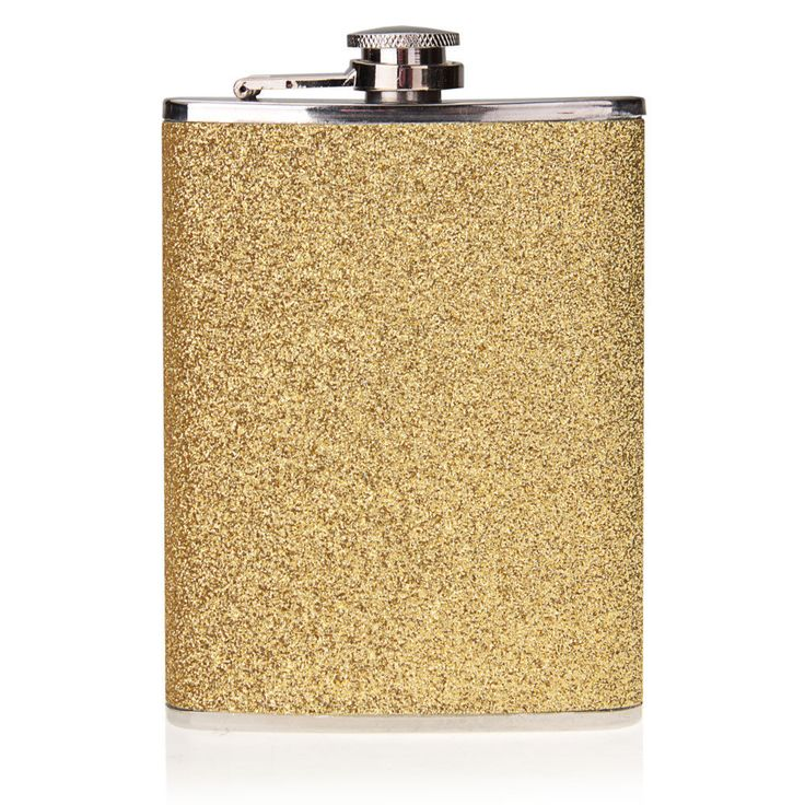 8Oz Steel Stainless Gold Pu Alcohol Pocket Drink Liquor Whisky Hip Flask