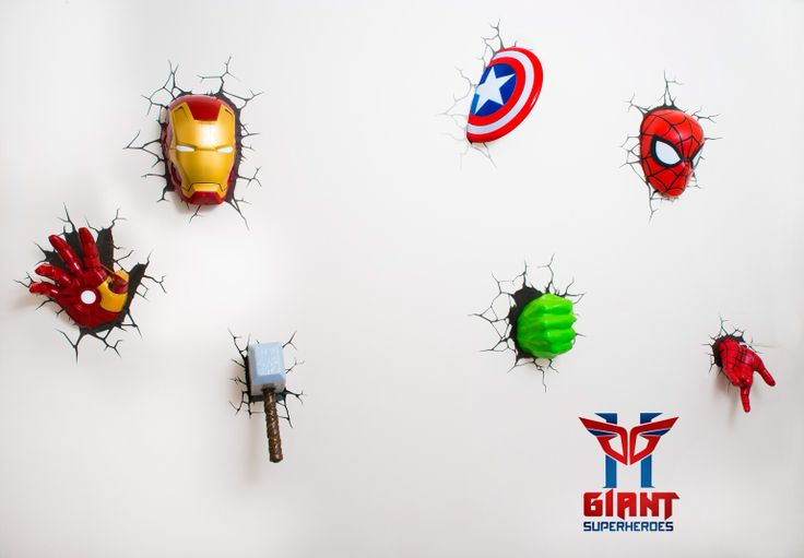 3d Wall Decor Lights : Super cool avengers d wall deco night lights for sale