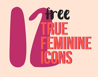 "Check out new work on my @Behance portfolio: ""12 free true feminine icons"" http://be.net/gallery/51775189/12-free-true-feminine-icons"