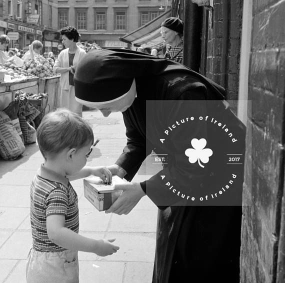 Irish Nun Collection Day Dublin 1960s  Instant DIGITAL