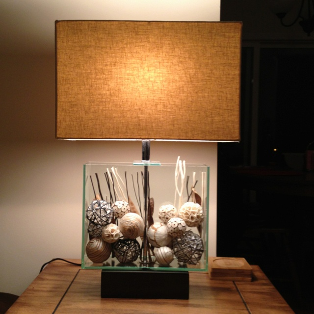 My Fillable Lamp From Pier 1. Can Fill With Whatever You Like!
